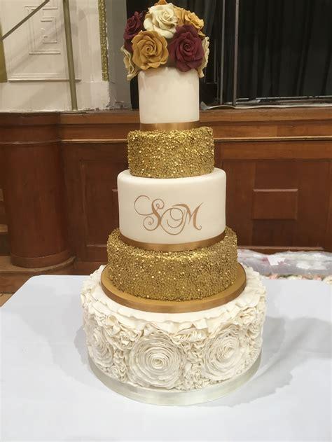 5 tier wedding cakes classic cakes com sugar fresh flowers