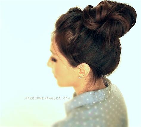 hair bun hairstyle tutorial  school wedding prom bridal