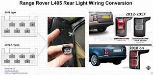 Genuine Range Rover L405 Pair Led Rear Tail Light Lamp