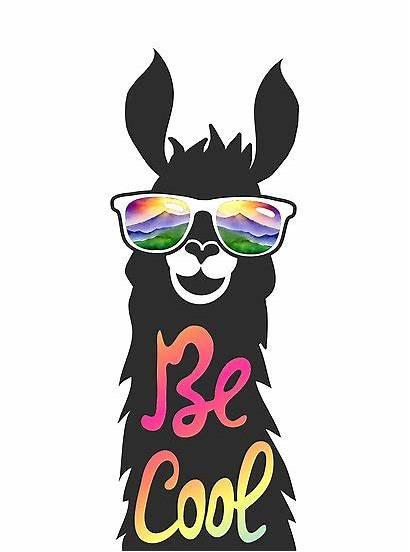 Llama Clipart Sunglasses Cool Alpaca Headpossum Shades