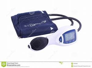 Manual Blood Pressure Monitor Stock Photo
