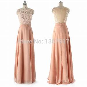 Long Peach Bridesmaid Dress - Hot Girls Wallpaper