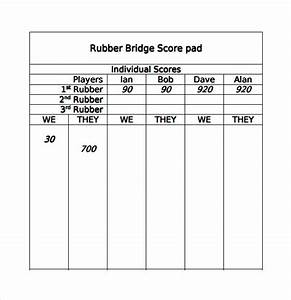 printable bridge tally sheets best professional templates With bridge tally template