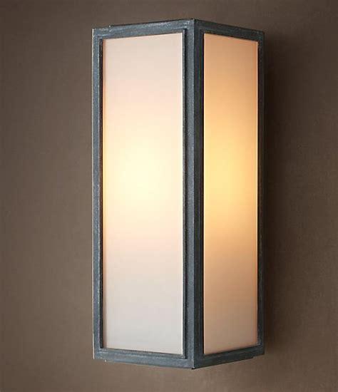 loft light box wall sconce contemporary wall sconces