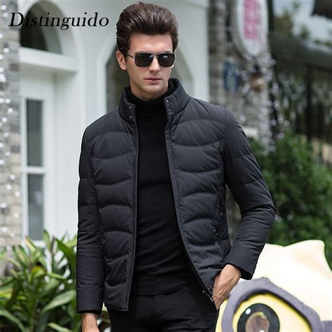 2018 new arrival men s white duck down clothing fashion man jacket winter breakable smart casual