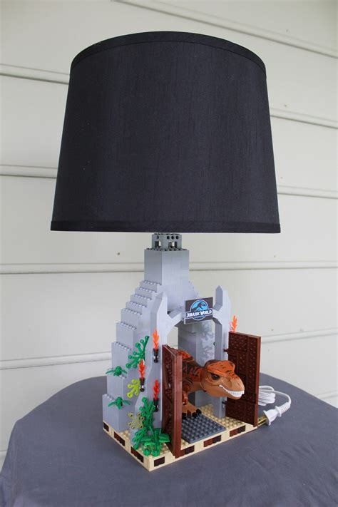 custom built  rex lamp  jurassic world park gate
