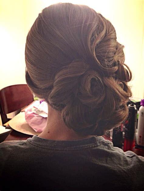 vintage updo curls wedding hair finger waves