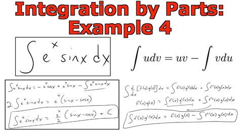 Integration By Parts Example 4 Youtube