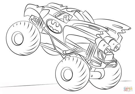 disegno  batman monster truck da colorare disegni da colorare  stampare gratis