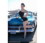 Car Show Pinup Model Brianna And Custom Turquoise Blue 195