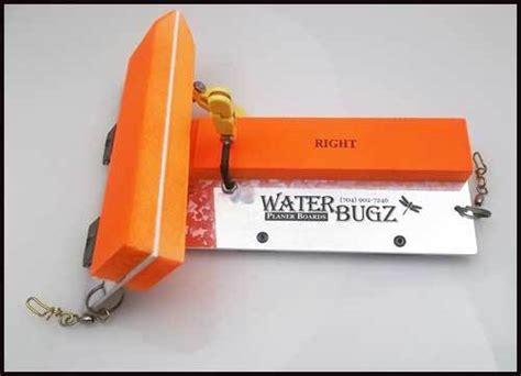 Water Bugz Planer Boards one pair Big Red's Bait