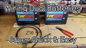 How To Wire Dual Camper Batteries Ud83d Udd0bin Parallel