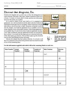 Electron Dot Structures  Etc  Worksheet For 9th