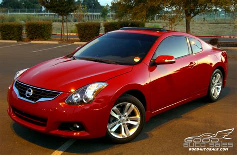 sell   nissan altima  coupe  door red
