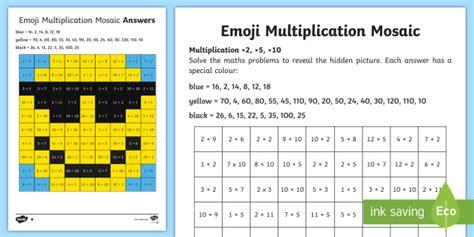 2 5 and 10 multiplication mosaic worksheet worksheet times tables