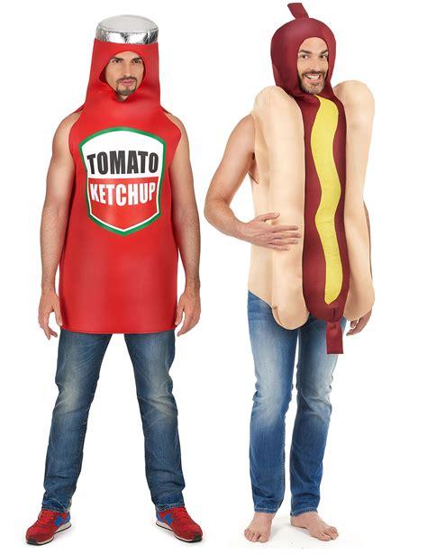 couple hot dog costume costume coppia hot dog et ketchup adulto costumi coppia e