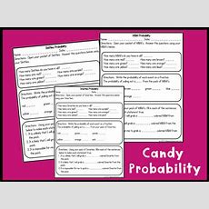 Candy Probability Activities Printable Worksheet With Answer Key  Lesson Activity