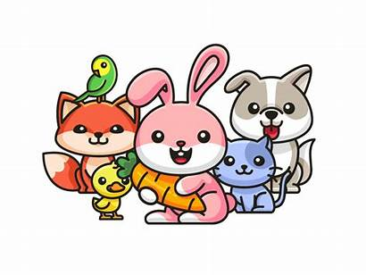 Animal Dribbble Cartoon Pet Child Save Illustration
