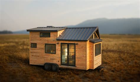 rustic bed oregon tiny house in bend