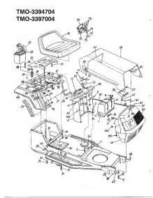 Yardman Mower Deck Belt Diagram by 12 Hp 38 Quot Lawn Tractor Diagram Amp Parts List For Model