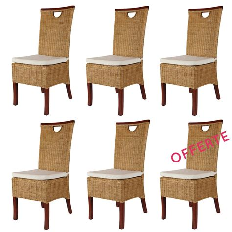 Lot De 6 Chaise Pas Cher by Lot Chaises En Rotin Chaise En Rotin Pas Cher Lot 6