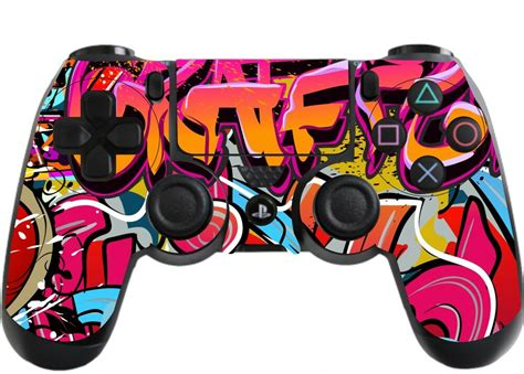 graffiti hip hop playstation 4 ps4 controller sticker skin wrap ps18 ebay