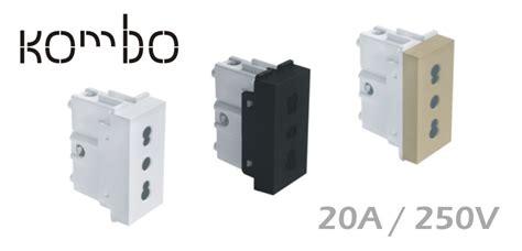 1m two pole socket outlet 20a 250v metalka