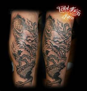 Japanese dragon leg tattoo by WildThingsTattoo on DeviantArt