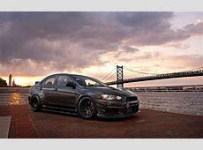 Wallpaper sports car, Mitsubishi Lancer, Stance