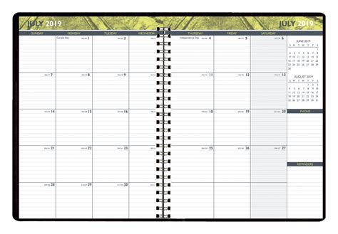 hammond stephens academic monthly appointment planner jul