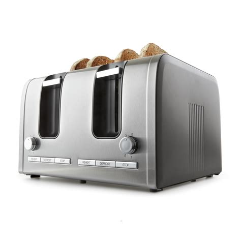 toaster stainless kmart 4 slice stainless steel toaster reviews