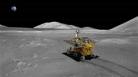 chinese probe lands  moon  collect lunar samples