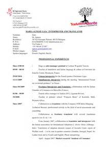 Cv Maria Agnese Gaia English