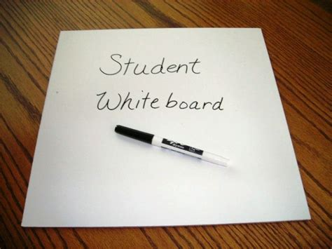 Shower Board Whiteboard - make student whiteboards from shower board purchased at