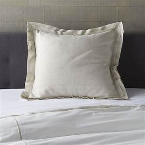 bianca white natural euro sham reviews crate and barrel With euro pillow slipcovers