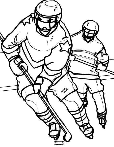 hockey coloring pages learn to coloring