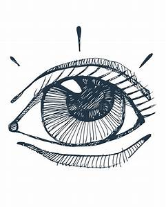 Hand Drawn Vector Human Eye Stock Vector