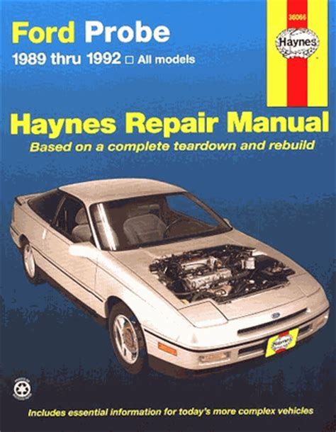 where to buy car manuals 1989 ford probe interior lighting ford probe repair service manual 1989 1992 haynes 36066