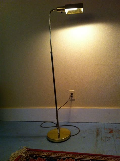floor reading l vintage floor l desk study reading light antique gold