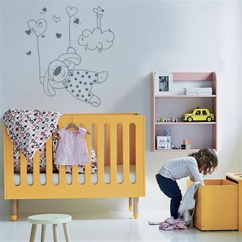 stickers lapin chambre bébé stickers muraux chambre enfant petit lapin qui vole