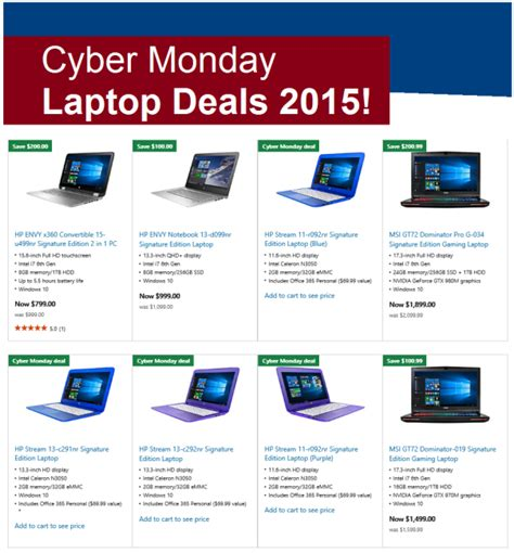 cyber monday l deals cyber monday laptop deals 2015