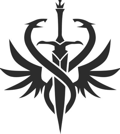 lineage  hell knight class logo vector   cdr