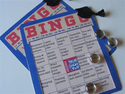 graduation bingo board