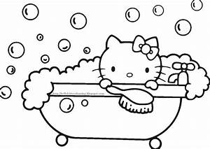 Hello kitty coloring pages wallpapers