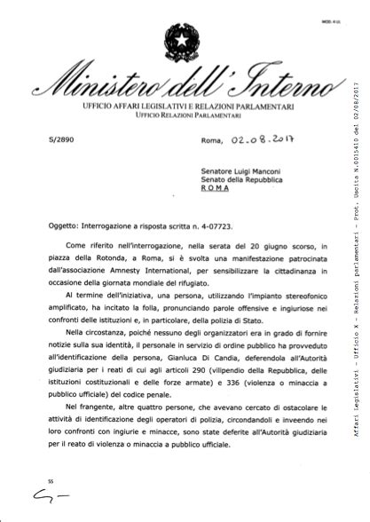 Minister Dell Interno by Ministero Dell Interno Polizia Di Stato