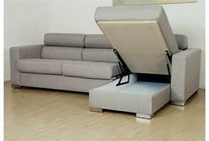 Canapé Convertible Moderne : meubles design canape moderne fonctionnel canape d angle convertible malino en tissu gris ~ Teatrodelosmanantiales.com Idées de Décoration
