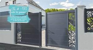Portail De Garage Coulissant : portail alu cl ture porte de garage volet menuiserie ~ Edinachiropracticcenter.com Idées de Décoration