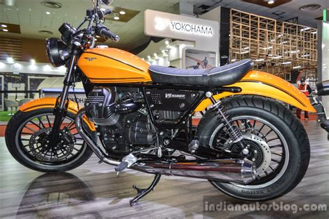 moto guzzi v9 roamer moto guzzi v9 roamer rear suspension at auto expo 2016