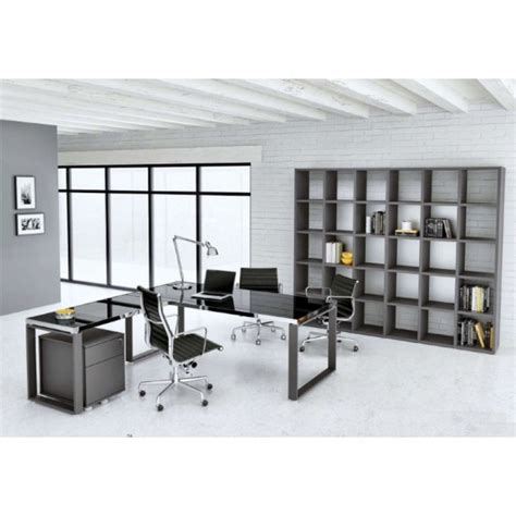 bureau acier et verre mobilier de bureau archimède 2014 verre et acier