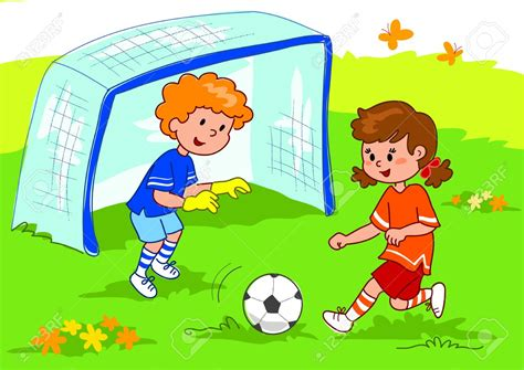 Children Playing Football Clipart 101 Clip Art